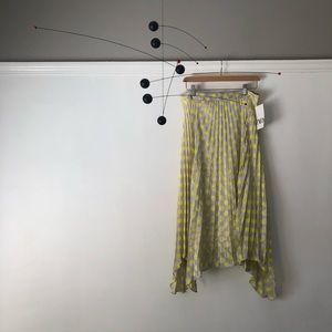 Pleated asymmetrical polka dot skirt! Never worn!
